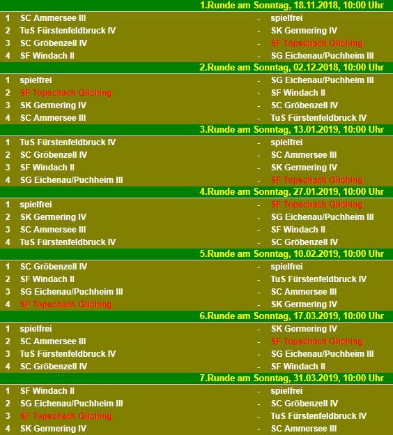 Spielplan B-Klasse Nord 2018